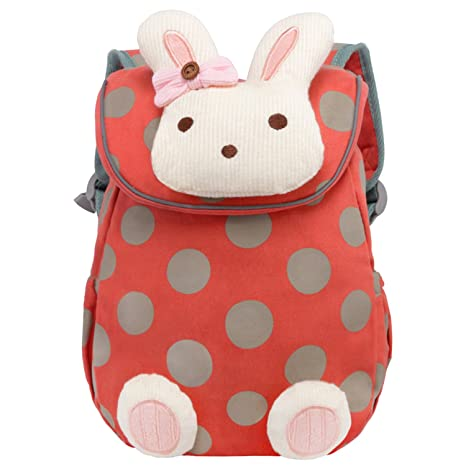 fdf9721458 Vox Pre School Toys Bag with Safety Harness Leash Bunny Rabbit Backpack for Baby  Girls Schoolbag  Amazon.in  Bags