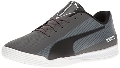 PUMA Men's Evospeed Star S Ignite Soccer Shoe, Asphalt/Puma Black/Quiet  Shade