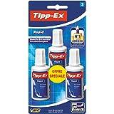 Tipp-Ex Rapid Correcteurs Liquides - 20ml, Blister de 3