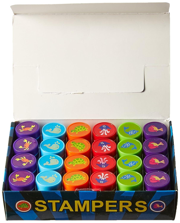 Fun Express Ocean Life Stamps Birthday Party Supplies Loot Bag Accessories 24 Pieces per Unit B003JT0L4Y