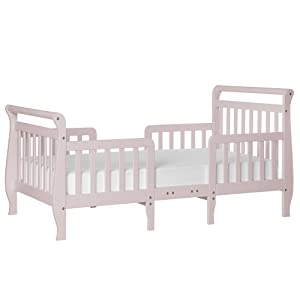 Dream On Me Emma 3 in 1 Convertible Toddler Bed, Blush Pink