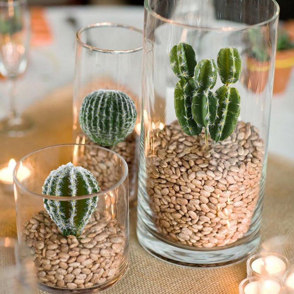 Amazon.com: GTIDEA Set of 5 Artificial Cactus Fake Succulent Plants ...
