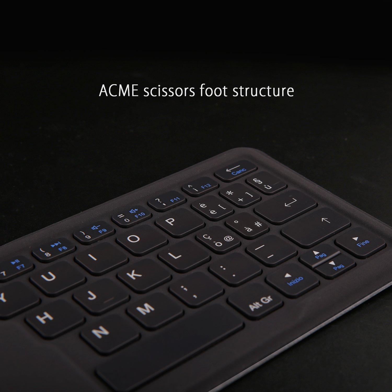 Teclado portátil UMIDIGI plegable Bluetooth 3.0, magnético ...