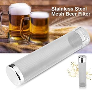 Beer Dry Hopper Filter,ProMaker Stainless Steel Hop Strainer Micron Mesh Beer Filter Cartridge (2.8 X 11.8 inch)