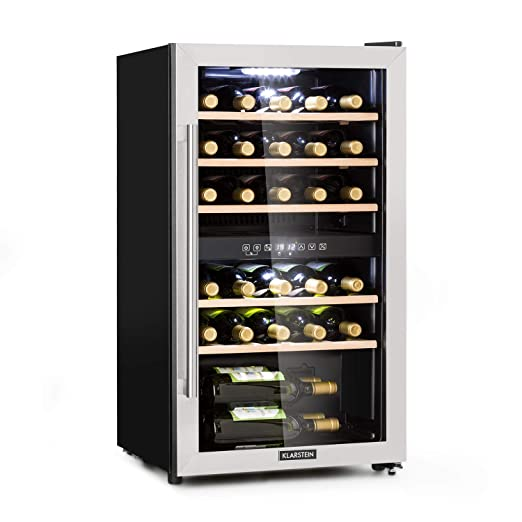 Klarstein vinamour 29d • Botellero • frigorífico para vino • 2 ...