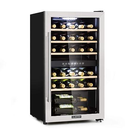 KLARSTEIN Vinamour 29D - Nevera para vinos, 2 Zonas de ...