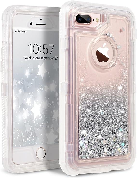 Cases iPhone 7S Plus glitter case Flip