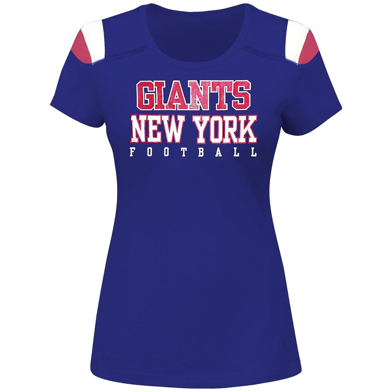 NFL Womens Giants S S Scoop Neck Panel Shoulder