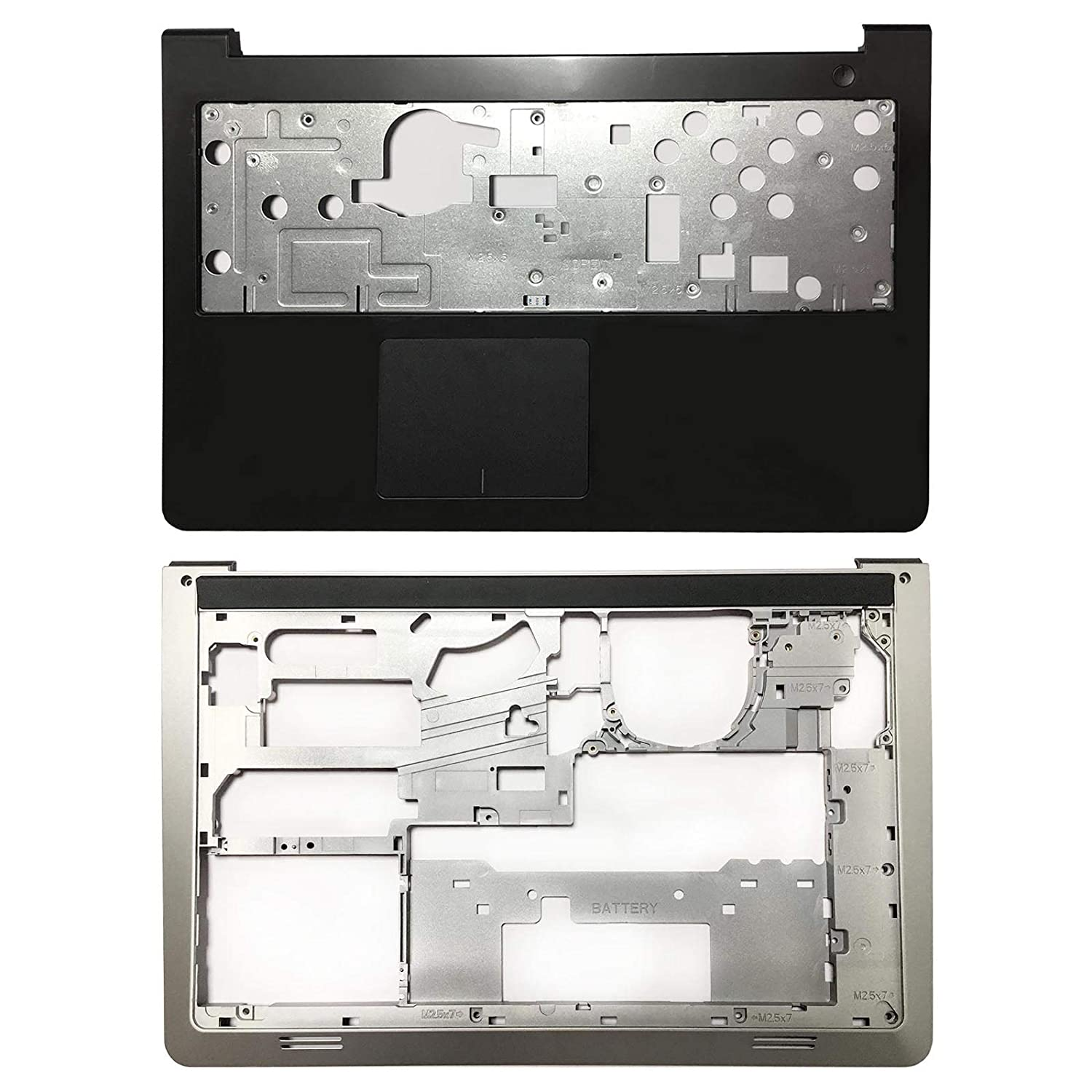 Lenboes Laptop Palmrest Upper Case with Touchpad and Bottom Case Base Cover Replacement for Dell Inspiron 15-5547 5542 5545 5548 AP13G000100 0K1M13 006WV6