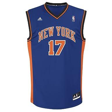super cute 18c48 b3a91 adidas Jeremy Lin Jersey Azul réplica # 17 New York Knicks ...