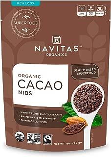 product image for Navitas Organics Raw Cacao Nibs, 16oz. Bag, 15 Servings - Organic, Non-GMO, Fair Trade, Gluten-Free