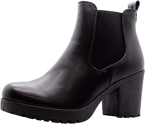 Womens Block Heel Chelsea Boots