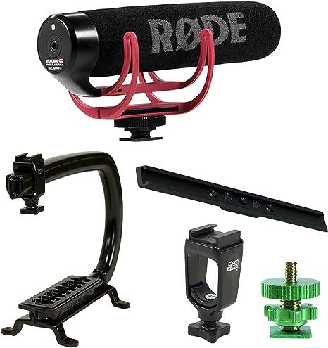 Profesional Estabilizador de cámara Grip Handle + Rode VideoMic GO ...
