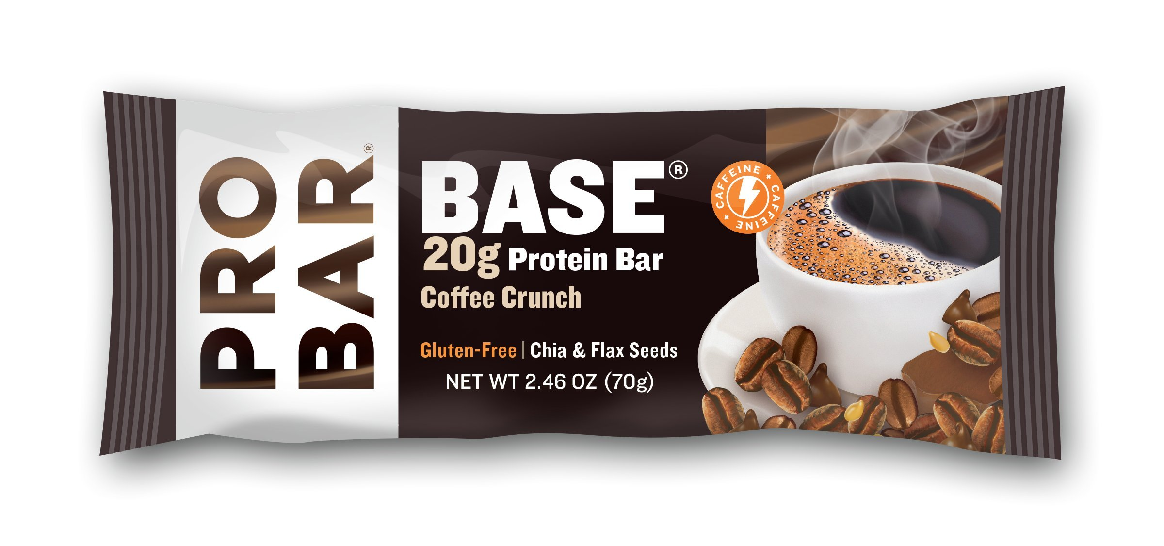 PROBAR - Base 2.46 Oz Protein Bar, Coffee Crunch, 12 Count - Gluten-Free, Plant-Based Whole Food Ingredients