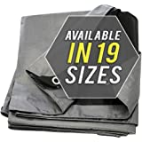 Tarp Cover 10X12 Silver/Black Heavy Duty 8 Mil Thick Material, Waterproof, Great for Tarpaulin Canopy Tent, Boat, RV or Pool Cover!!! by Trademark Supllies