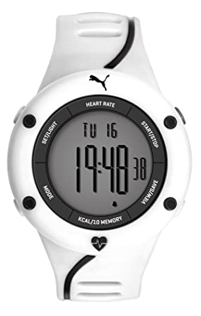 Puma Cardiac 01 Digital Dial White Resin Mens Watch PU911361004U