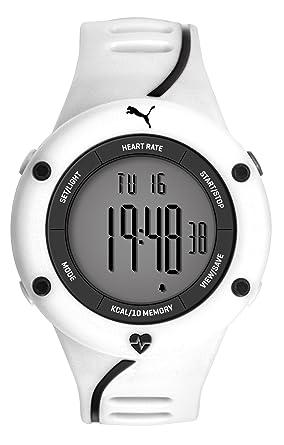 4bd32c758f Puma Time Cardiac 01 PU911361004 - Montre Quartz - Affichage Digital -  Bracelet Plastique Blanc et