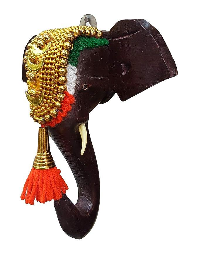 Buy Mdt India Wooden Handicraft Kerala Festival Pooram Decorated