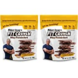FITCRUNCH Whey Protein Bark | Designed by Robert Irvine | High Protein Chocolate Bark | 2g of Sugar, 10g of Protein & 150 Calories | 180g (2 Bags)