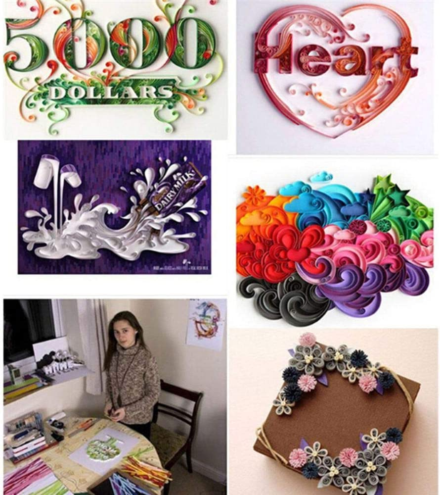 26 Colors Quill Paper Quilling Kit for Beginners Professional Handmade DIY Art Craft TXIN 1300 Quilling Paper Strips 5mm
