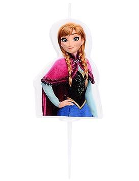 Generique - Vela de cumpleaños Elsa Frozen 4.5 cm: Amazon.es ...