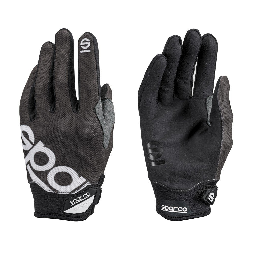 Sparco 002093NR3L Handschuhe, Meca 3, Grö ß e L, Schwarz S002093NR3L