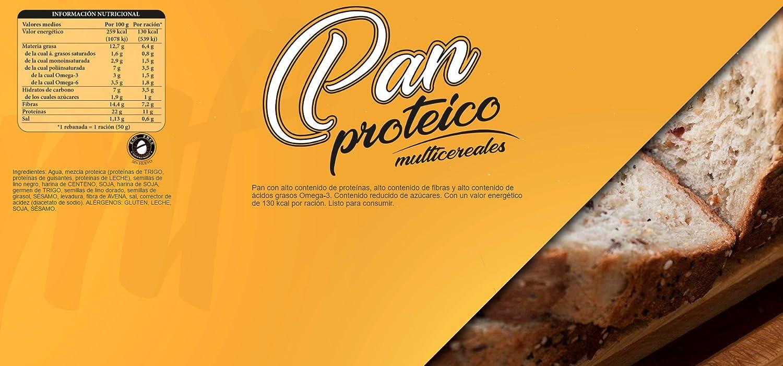 Menú Fitness - Pan Multicereales Proteico - 250gr: Amazon.es ...