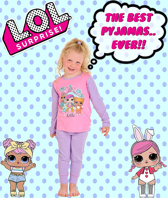 L.O.L Surprise Pigiama per Bambine in Cotone Morbido Lil Sisters Bambole