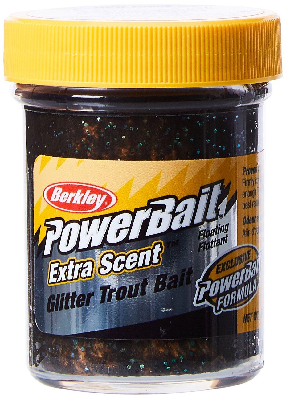Berkley PowerBait Extra scent - Esche da pesca, colore Nero/Arancione,  confezione da 2 X 50g 1004930