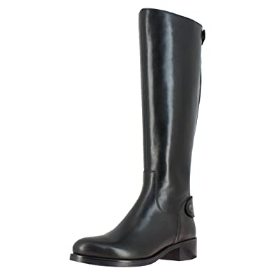 0c50e0580b33c Saint G Womens Black Napa Leather Long Boots, Knee Length Boots for Women,  Boot for Girls, Boots for Women, Back Zip Closure Womens Long Boots: Buy  Online ...