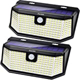 Aootek 182 Led Solar outdoor motion sensor lights upgraded Solar Panel to 15.3 in2 and 3 modes(Security/ Permanent On…