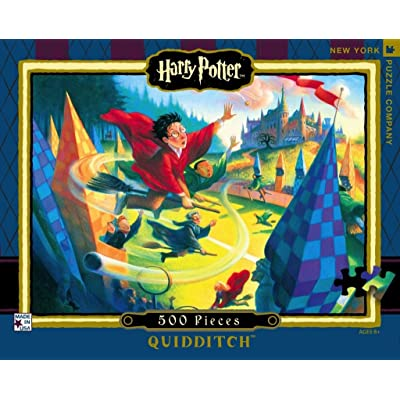 New York Puzzle Company - Harry Potter Quidditch 500-500 Piece Jigsaw Puzzle: Toys & Games