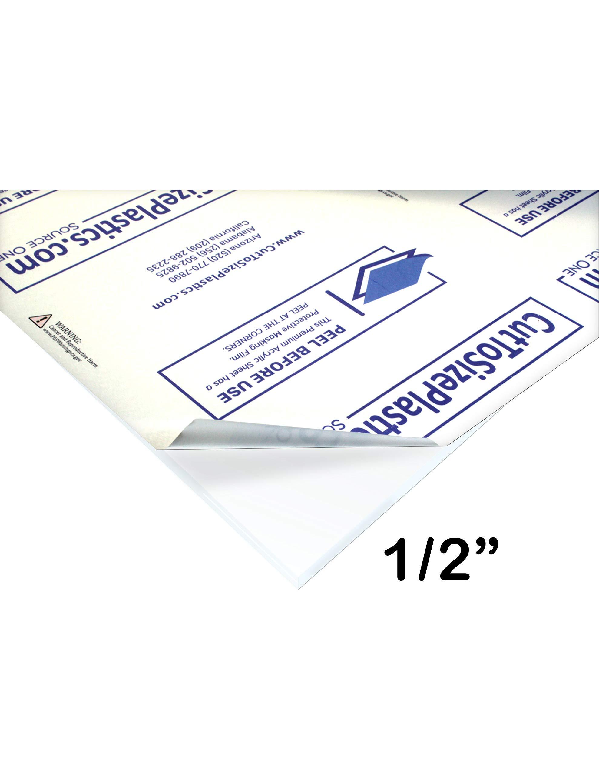 SourceOne 1 Sheet - 1/2'' Clear Acrylic Plexiglass Sheet HEAVY DUTY (24'' X 24'') by SOURCEONE.ORG