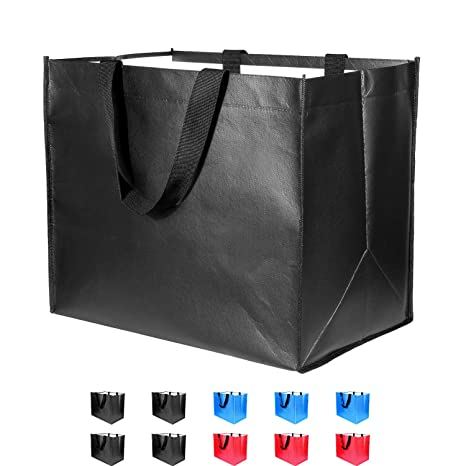 Amazon.com: Bolsas de comestibles reutilizables grandes, 10 ...