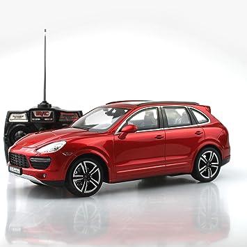 Coche Teledirigido Porsche Cayenne Turbo 1: 14 rojo SUV Modelo Modelo de coche vehículo con iluminación de control remoto RC: Amazon.es: Juguetes y juegos