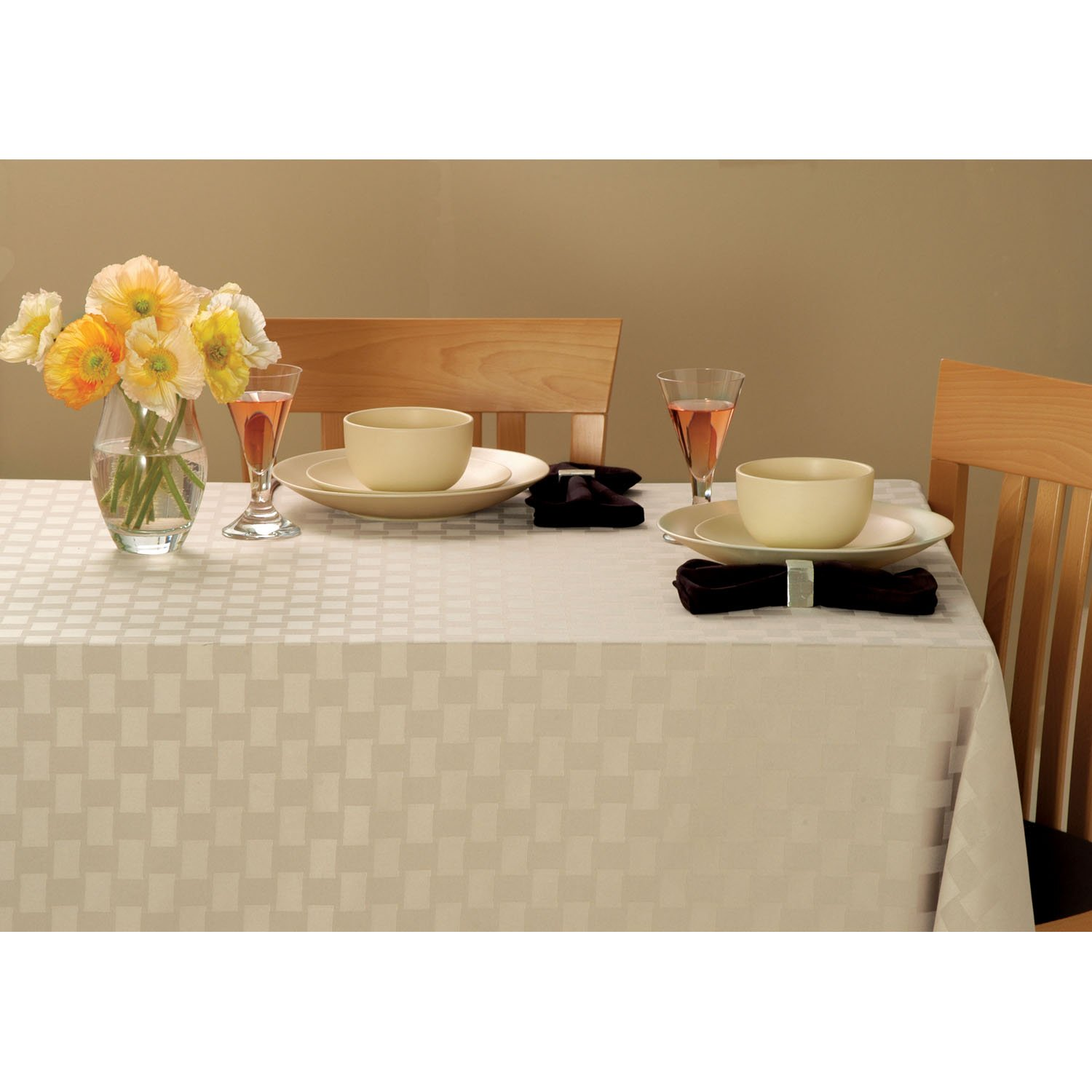 Bardwil Linens Reflections Set of 4 Placemats Black