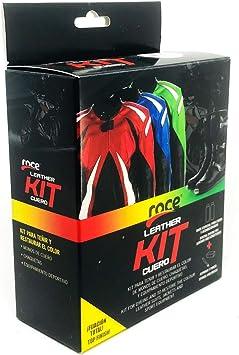 Roce Leather Kit   Tintas Roce   Color Negro Sport   Tinta Reparadora para Monos de Motorista y Prendas de Cuero Estropeadas   Arreglos Ropa Cuero   ...