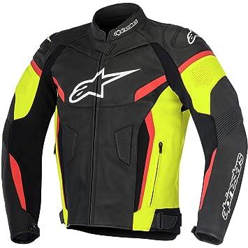 Alpinestars GP Plus R V2, Chaqueta de Piel de Moto, Negro/Amarillo/Rojo, 60 EU: Amazon.es: Coche y moto