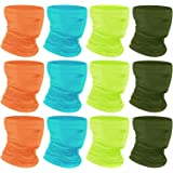 [12-Pack] Neck Gaiter Scarf, Breathable Bandana Face Bandana Cover Cooling Neck Gaiter for Men Women Cycling Hiking…