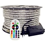 led strip light 15 meter 220V rgb multi color light With + WALL CLIP