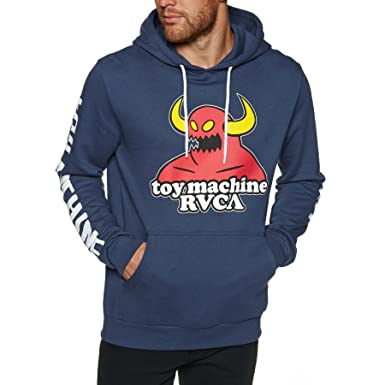RVCA x Toy Machine Pullover Hoodie - Athletic Heather 4a68246ea1