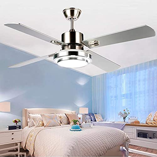 Modern Chrome Silver Ceiling Fan