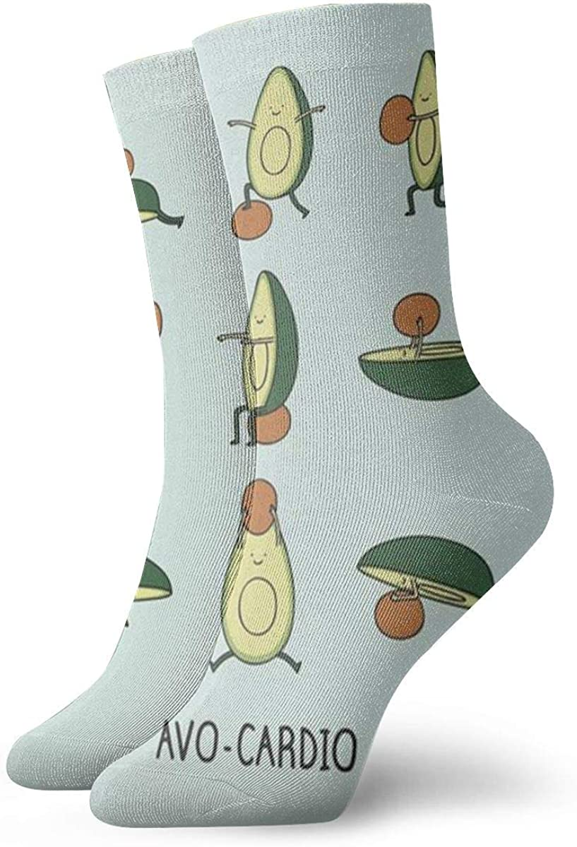 CAMERONLITTLE Cute Avocado Cool Color Lightweight Wear-Resistant Sweat-Absorbent Wicking Imported Unisex Socks