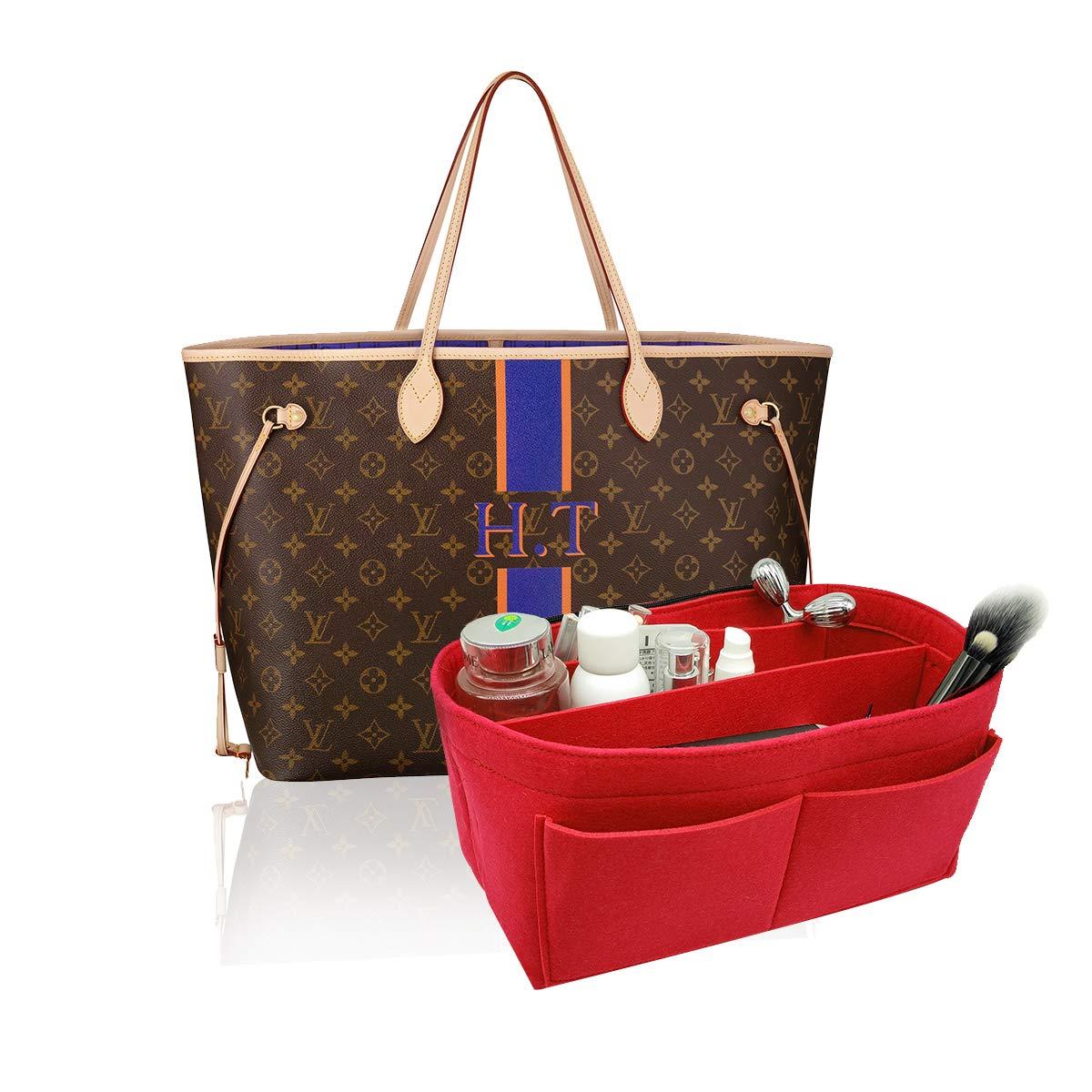 Felt Purse Bag Organizer Insert shaper 8022 Red M by LEXSION