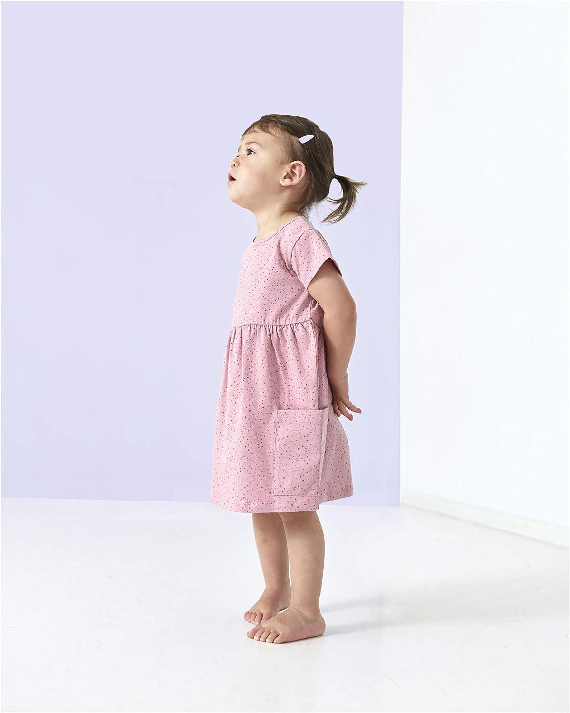 Pr/énatal M/ädchen Kleinkind Kleid Kurzarm Rosa