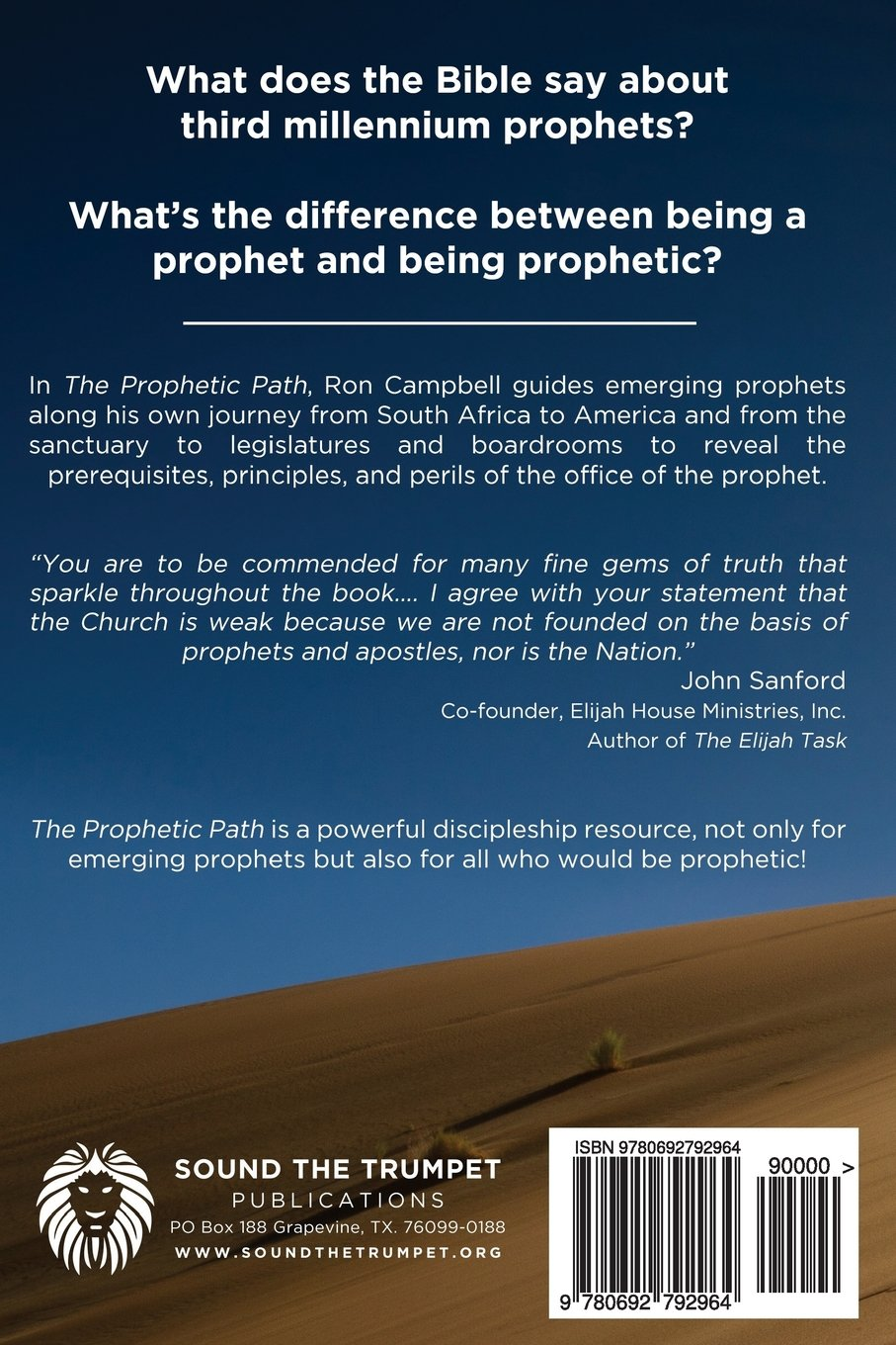 The Prophetic Path: A Practical Guide For New Testament Prophets: Ron  Campbell, Ron Brackin: 9780692792964: Amazon: Books