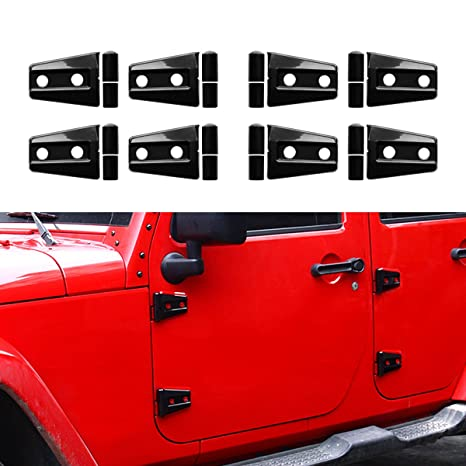 Amazon icars black door hinge covers for 4 door 2007 2017 jeep icars black door hinge covers for 4 door 2007 2017 jeep wrangler jk jku rubicon publicscrutiny Images