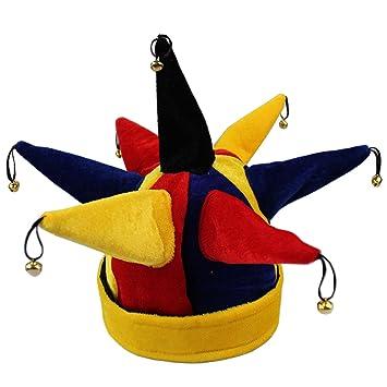 BEETEST Sombrero de Joker Multicolor divertido del payaso del bufón sombrero  para Halloween Navidad partido del 20d98e3b9b7