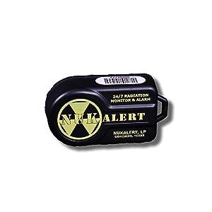 NukAlertTM Nuclear Radiation Detector/Monitor (Keychain Attachable) Alarm