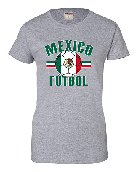 26aa5d5d7 Go All Out Small Athletic Heather Womens Mexico Futbol Mexico Soccer  Football T-Shirt